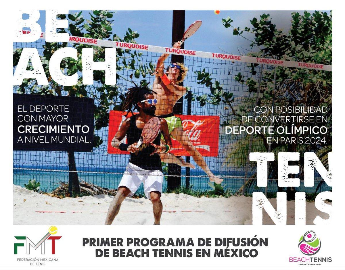 COMIENZA EL PROGRAMA DE DIFUSIÓN DE BEACH TENNIS EN MÉXICO 🎾 🏖 🇲🇽  👉https://www.facebook.com/fmt.org.mx/photos/a.225191347542285/2494484987279565/?type=3&theater…  #FMT #Head #BeachTennis #TenisDePlaya #BeachTennisMéxico #TenisMéxico