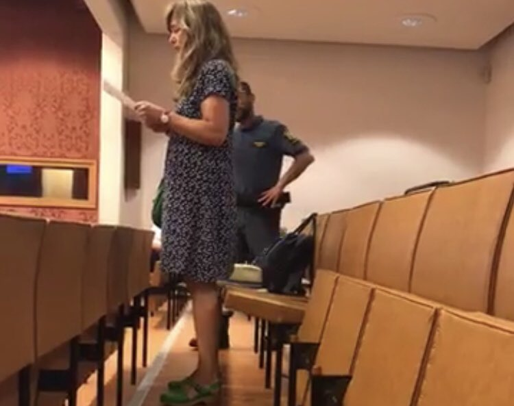 Today we disrupted #Malmö city council meeting. One activist started reading a climate-related poem, and when she was escorted out by security, another took over the reading. And so on and so on, until all 6 activists had been ejected. (see link below for livestream recording)