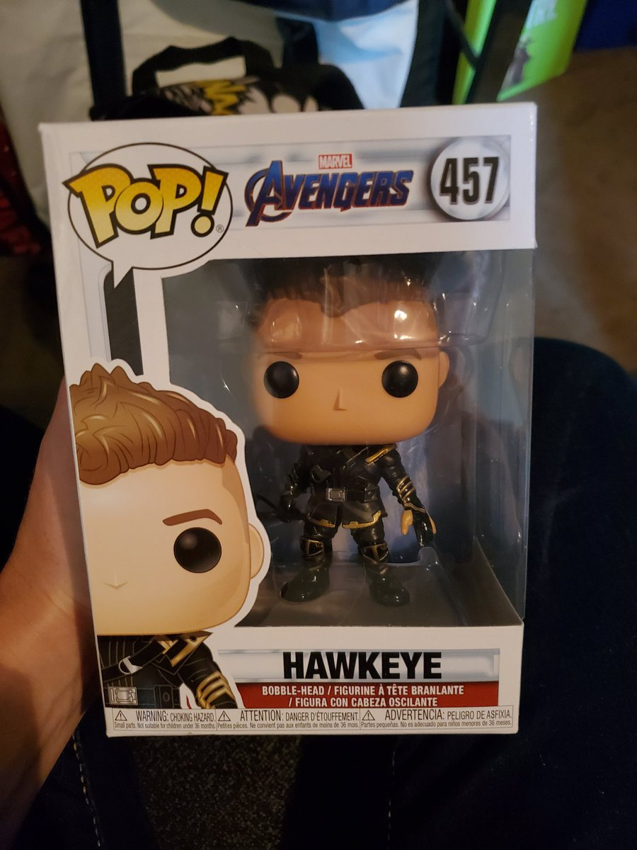 Look what I got today! Thank you @AdamLanceGarcia! Surprisingly, this is actually my first #Hawkeye Pop lol.