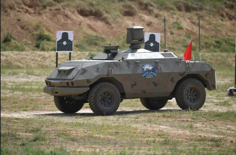 Bottom of the article - a new target UGV of the Chinese Army