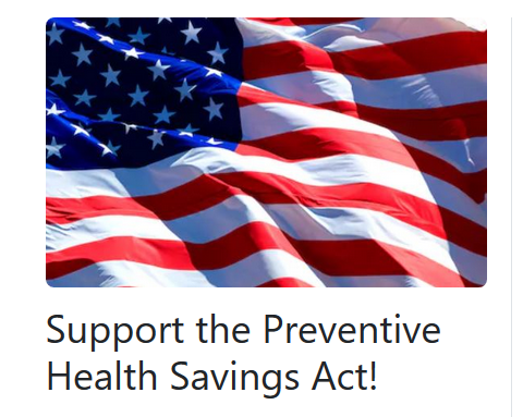 Ask  Congress to sponsor the Preventive Health Savings Act (H.R. 2584/S. 1361) to review policies/programs to improve public health. All @eatrightPRO Take Action here: http://ow.ly/5b5g50uHJEN @donnamartinrd @MaryRussellRDN @NutritiousTable @TerriRPrezElect @eatright @eatrightMA