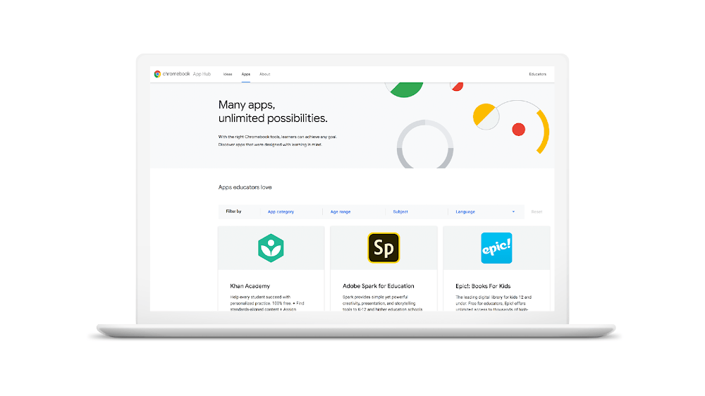 Google launches Chromebook App Hub for educators plus other classroom tools by @sarahintampa