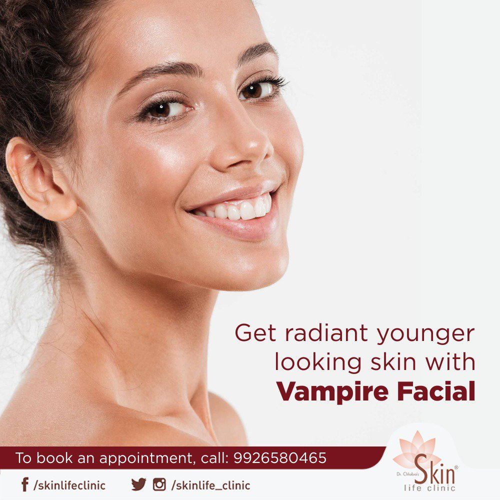 Vampire Facial is an effective way to get a youthful volume and improved tone and texture. For a consultation, book an appointment now at 9926580465. #VampireFacial #SkinLife #Clinic #Indore