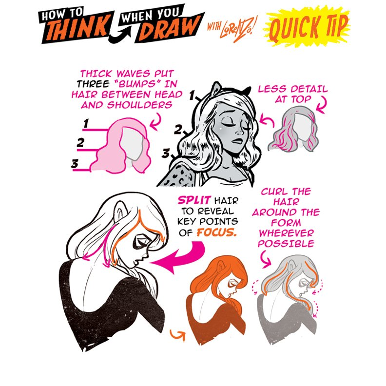 How to THINK when you draw CHUNKY, STYLISED HAIR QUICK TIP! I post LOADS of FREE TUTORIALS and reference pages up EVERY DAY here on TWITTER! See them ALL is right HERE:@etheringtonbros so many more on the way :) #howtoTHINKwhenyouDRAW #characterdesign #gamedev #animationdev #ART<br>http://pic.twitter.com/YQsZm7Bsbr