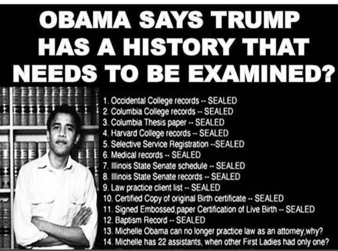 Good Morning 🇺🇸Patriots MAGA Followers,All Those WalkAway's🙏Jose This I Found For You,Now Tell  America How You Don't  Know PresidentTrump💯 Obama Was Dishonest! Luv Military,Blue,ICE!We Must Never Back Down Show Facts Stand Up To Corrupt Democrats! We're TRUMP MEDIA🇺🇸 MAGA2020
