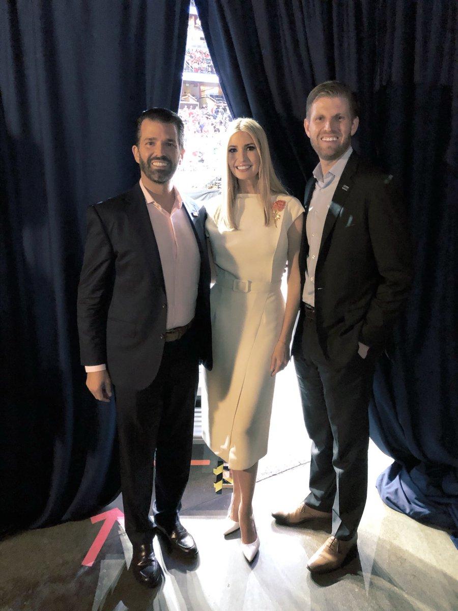 RT @EricTrump: Behind the scenes in #Orlando - what an amazing night! @DonaldJTrumpJr @IvankaTrump https://t.co/DRqicdEFFY