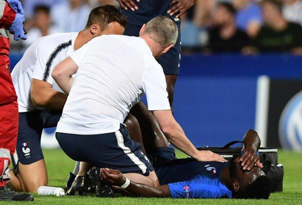 Sorti sur blessure hier lors de #ANGFRA 🏴1-2🇫🇷, Jonathan Bamba est forfait pour la suite de l'#EuroEspoirs (lésion ligamentaire de la cheville, sans fracture). Bon rétablissement @JBamba14 💪po.st/rgTOQp