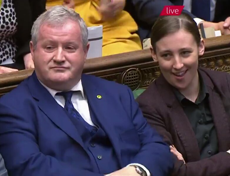 RT @dalkey04: Mhairi Black's face listening to Theresa May's response to Ian Blackford 😄👌 #PMQs https://t.co/jBWSEnx6uJ