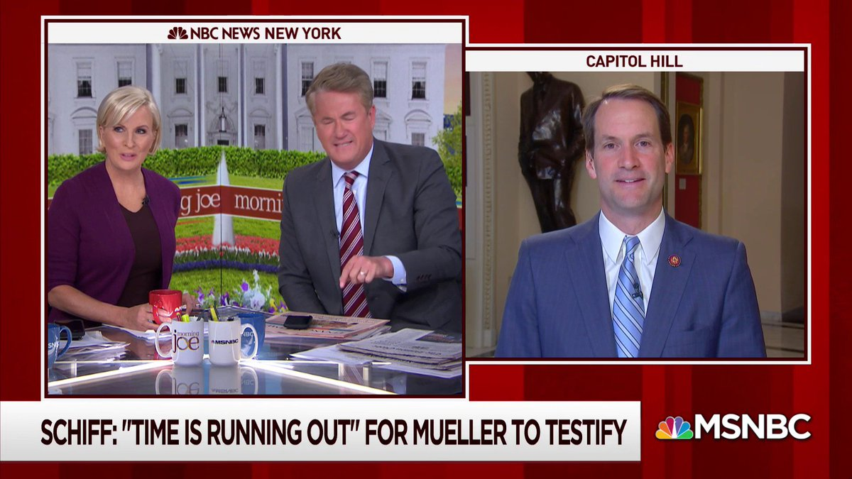 """.@JoeNBC  """"I want to know why Robert Mueller thinks he's above coming to Capitol Hill and testifying for Americans? It's outrageous."""""""