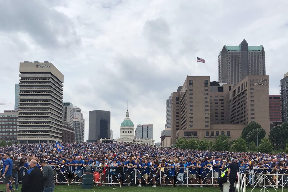 This is what #Winning the #StanleyCup is all about. Love you @StLouisBlues #fans! ❤️