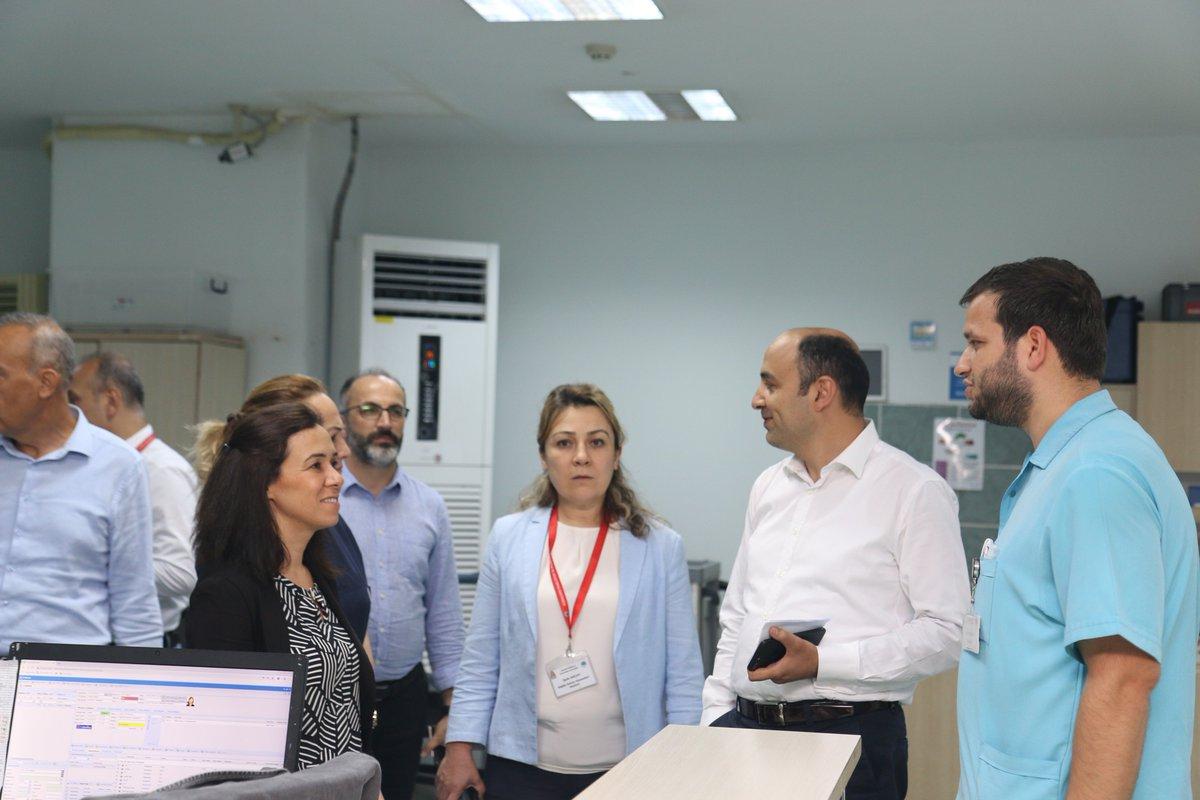 İl Sağlık Müdürümüz Dr. Öğr. Üyesi Muhammet Ali ORUÇ, Kamu Hastaneleri Hizmetleri Başkanı Uzm. Dr. Mehmet KILINÇ, Personel ve Destek Hizmetleri Başkanı Erol ÖZTÜRK Hastanemizi ziyaret ederek, Hastane Başhekim V. Uzm. Dr. Eda TÜRE ile birlikte incelemelerde bulundu.
