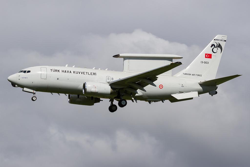 Risultati immagini per Turkish Air Force Boeing E-7T (13-004)