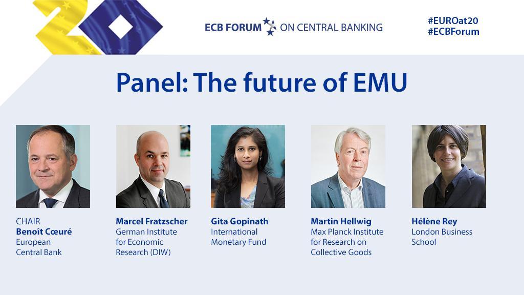 Starting shortly: the #ECBForum panel on the future of Economic and Monetary Union.Watch live on our website https://www.ecb.europa.eu/home/html/index.en.html?utm_source=ecb_twitter&utm_medium=social&utm_campaign=190619_ecb_forum… #EUROat20