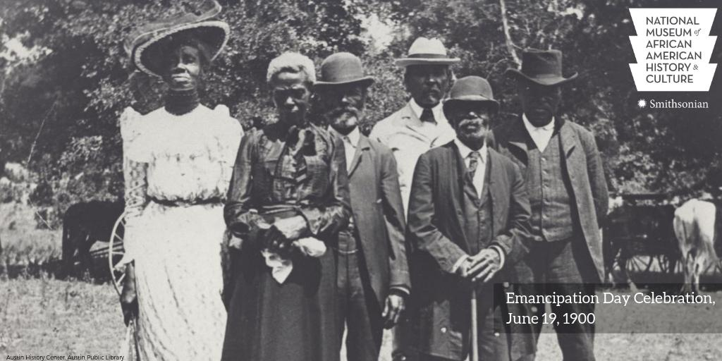 #OTD in 1865, enslaved African Americans were notified of their freedom by Union troops in Galveston Bay, TX—two years after the Emancipation Proclamation was issued. Known as #Juneteenth, this day is widely celebrated as the end of chattel slavery in the U.S. #APeoplesJourney