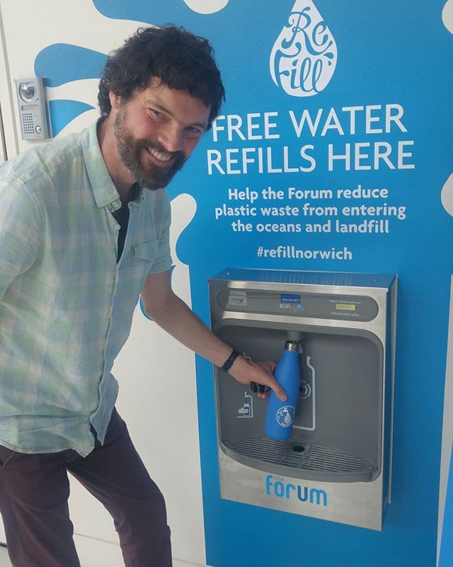 What better way to mark #nationalrefillday than by helping to officially open this brilliant new automated refill station at @theforumnorwich? With the popularity of The Forum, this station should help to prevent a huge amount of plastic bottles from be… bit.ly/2IoV7xQ