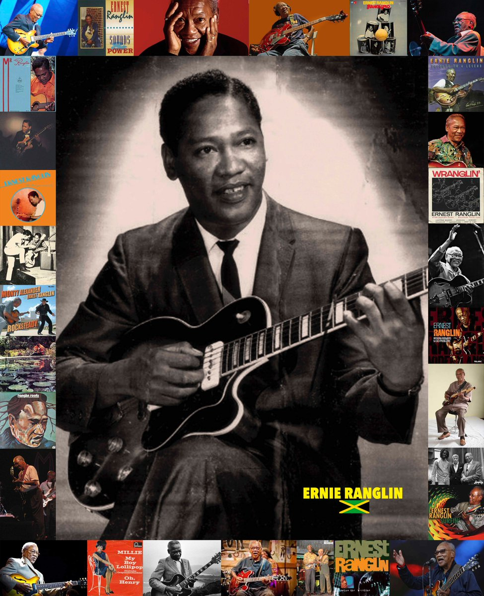 Ernest 'Ernie' Ranglin, Legendary Jamaican Guitarist and Composer, born 87 years ago today on 19 Jun 1932, in Manchester. Played on many early ska records helped create the guitar style that defined the form. 1964 topped UK mag Melody Maker reader's poll as Best Jazz Guitarist.