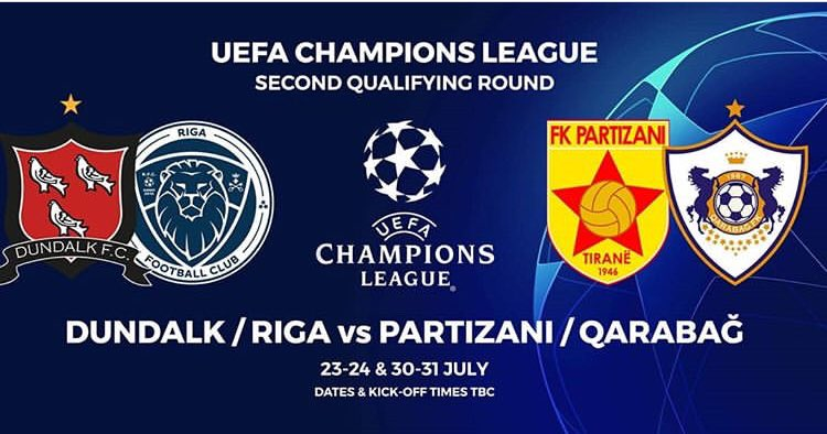 Should we beat Riga, we will face either FC Partizani or Qarabag FK in the second round #UCL
