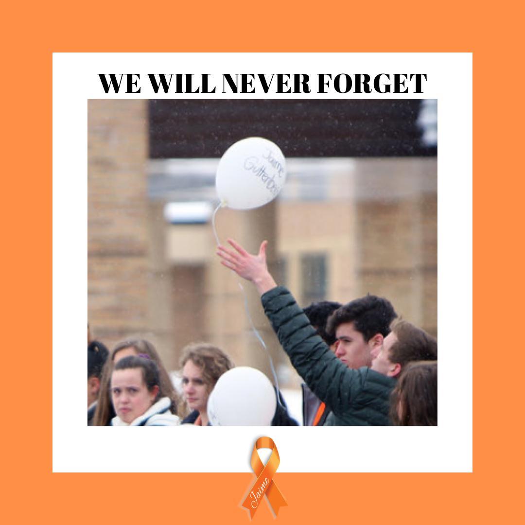 We will never forget.  #orangeribbonsforjaime #orangeribbons #neverforget #together #parklandstrong #motivation #keepgoing #childsafety #bekindtooneanother #kindnessmatters