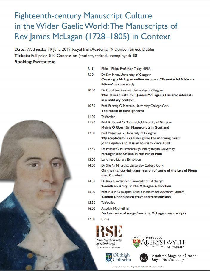 test Twitter Media - Today 15:00  @Library_RIA  Prof. Ruairí Ó hUiginn, @SCSLibrary  'Laoidh Chonnlaoich': text and transmission. Eighteenth-century manuscript culture in the wider Gaelic world: The manuscripts of Rev James McLagan (1728-1805) in context https://t.co/KGPL3cMruc https://t.co/zRZDIvFyot