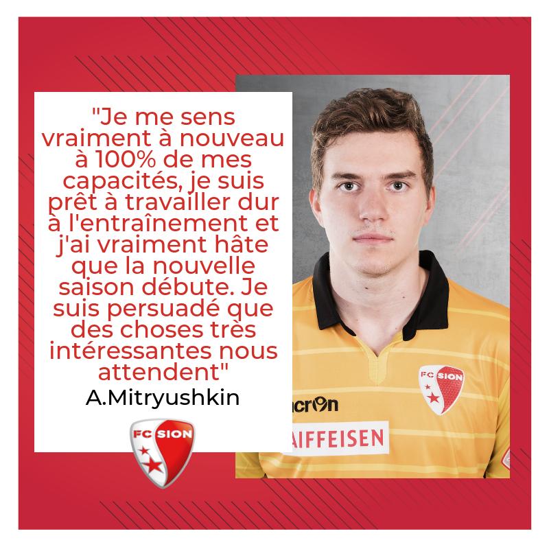 RT @FCSion: 💬 Anton Mitryushkin is back 🙌⚪️🔴 #FCSion #AM1 #HopSion https://t.co/vMBThU5nQA