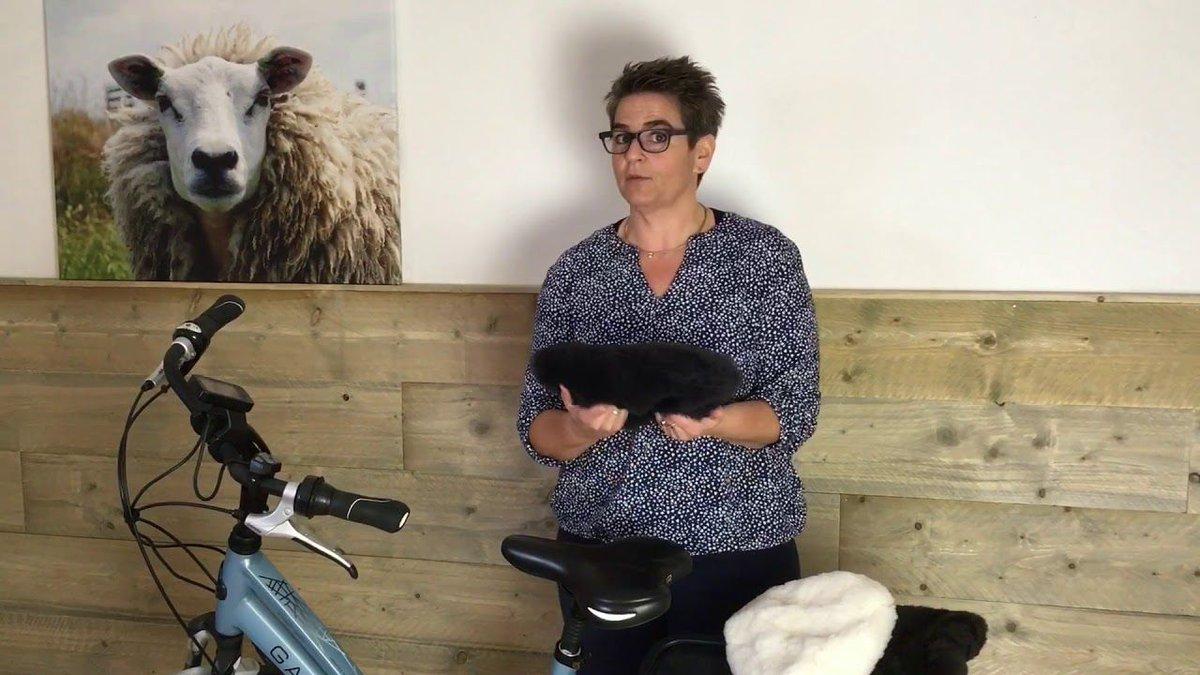 #zadeldekje #instructiefilpmje #schapenvacht #comfort #zadelpijn #fietsen #buitenzijn #actief #texelana #texel #natuur #eropuit #lekkerinbeweging  🚴😁🚴