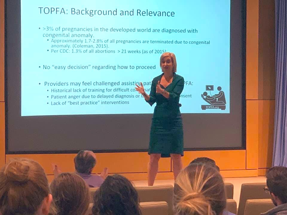 Nearly seven years ago I had a #laterabortion #abortion after 20 weeks at a local hospital. Today I was privileged to return to lecture abortion providers about how to provide emotional support for #abortionpatients because #abortionishealthcare and #abortionisahumanright.