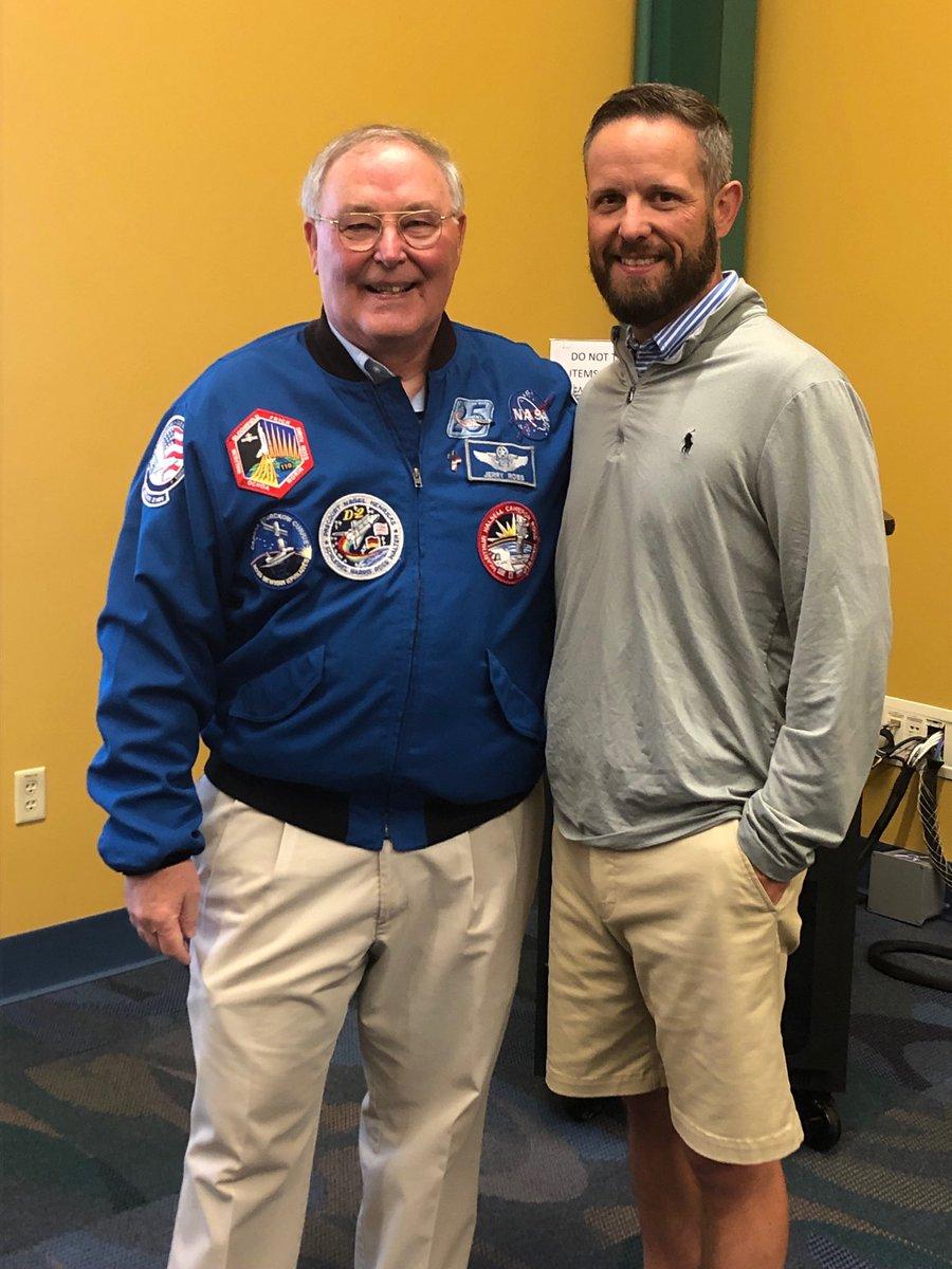 Amazing morning hearing from fellow Purdue grad, Hoosier native, and true role model Jerry Ross.  #BoilerUp #Spacewalker