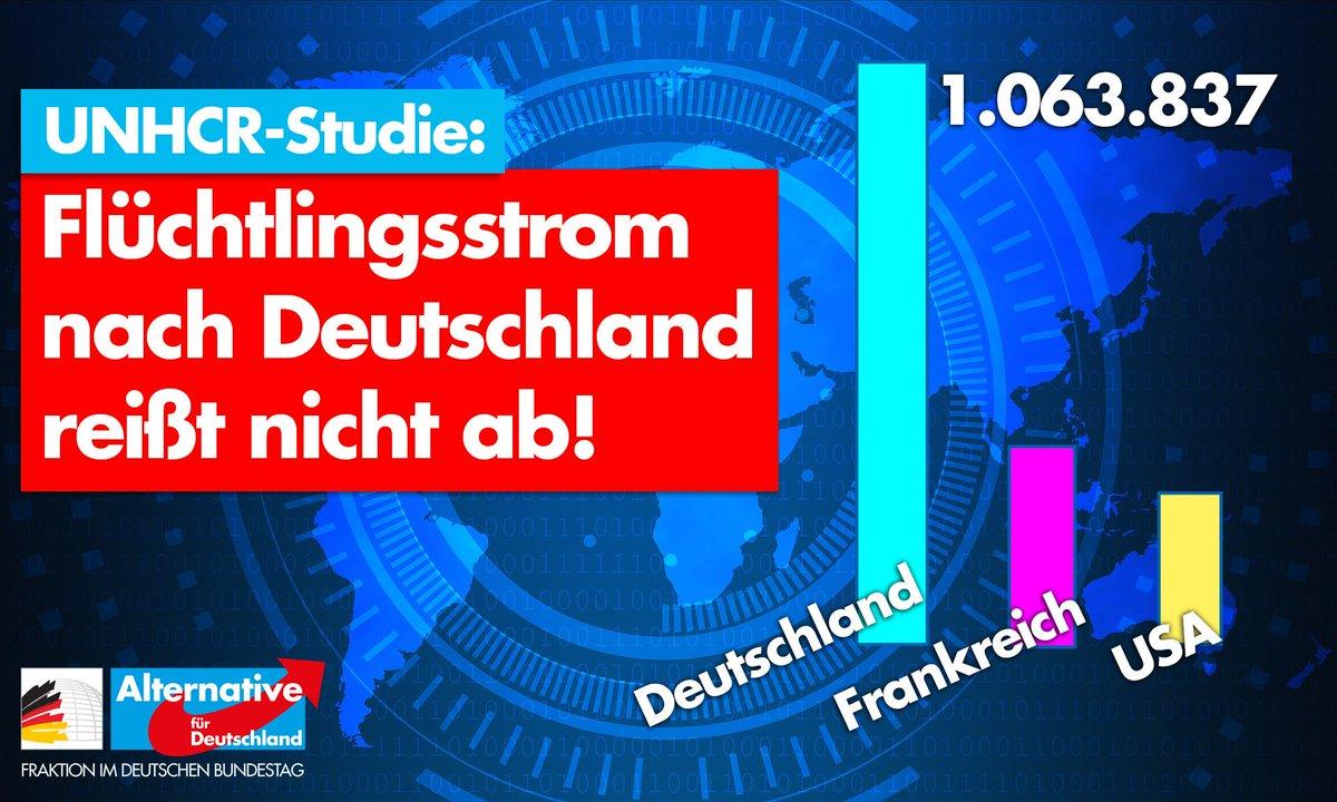 Image for the Tweet beginning: +++ Studie: Flüchtlingsstrom nach Deutschland