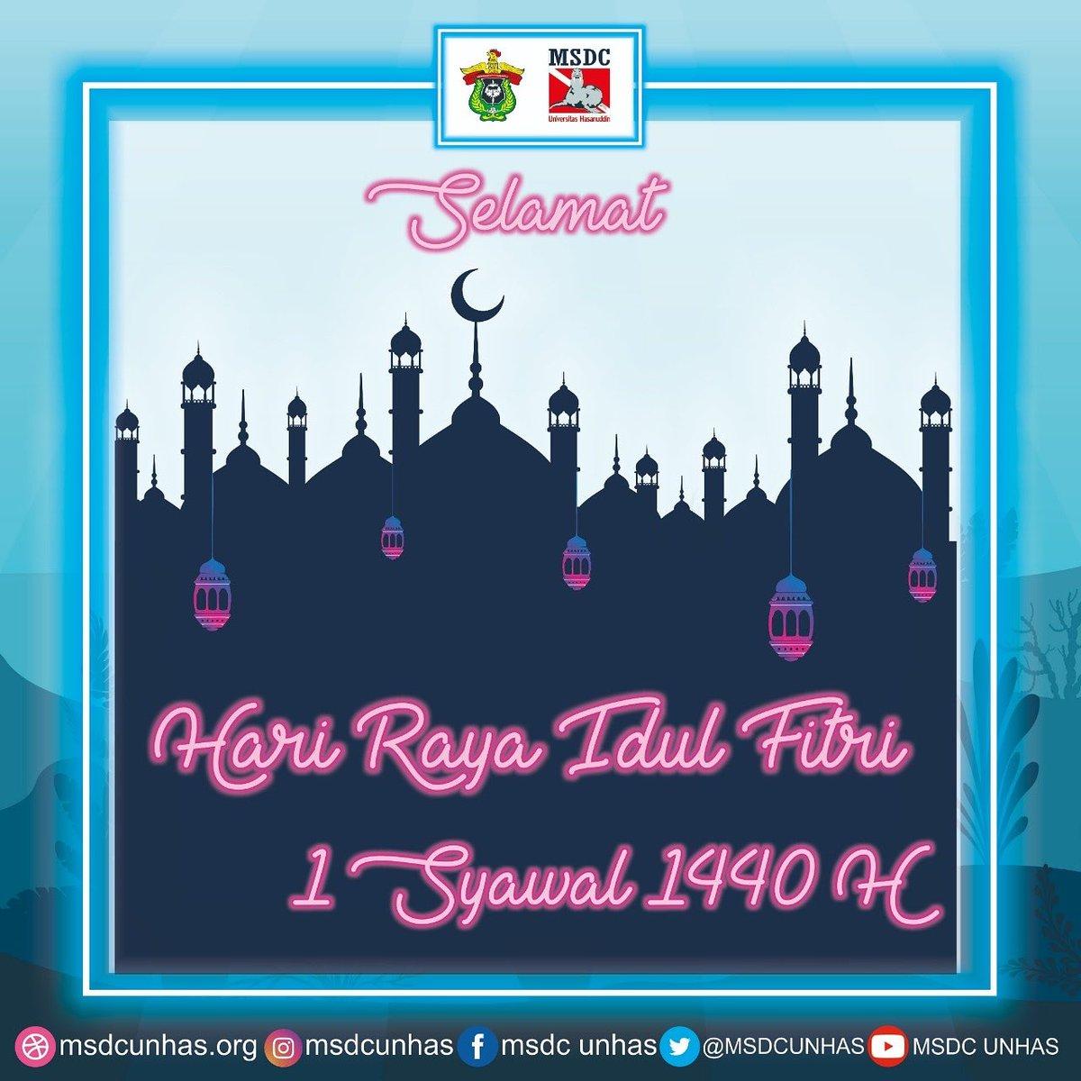 Keluarga Besar MSDC -UH Mengucapkan Selamat Hari Raya Idul Fitri 1440 H. Taqabalallahu minna wa minkum.  Barakallahu fiikum. Minal aidzin wal faizin. Mohon Maaf Lahir dan Batin🙏 ___________________________ #msdcunhas  #waspadadiraanuraga #eidmubarak #1440hijriah