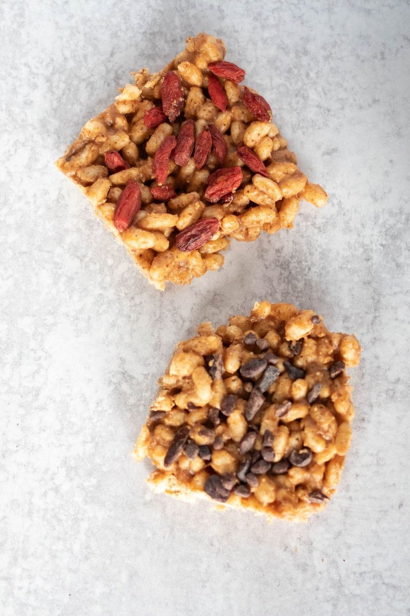 #WellnessWednesday #healthyrecipe Share! | Honey Almond Butter Rice Crispy Treats https://www.natashafunderburk.com/honey-almond-butter-rice-crispy-treats/ …