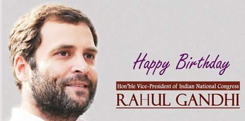 Wishing Sri Rahul Gandhi ji a very happy and prosperous birthday