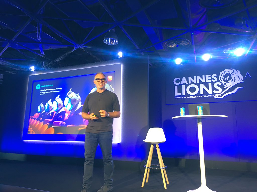 Mike McGee from @Framestore knows immersion like no other. Great to hear him speak about #GameofThrones #VR #experience at #CannesLions #Cannes2019 #CannesLions2019