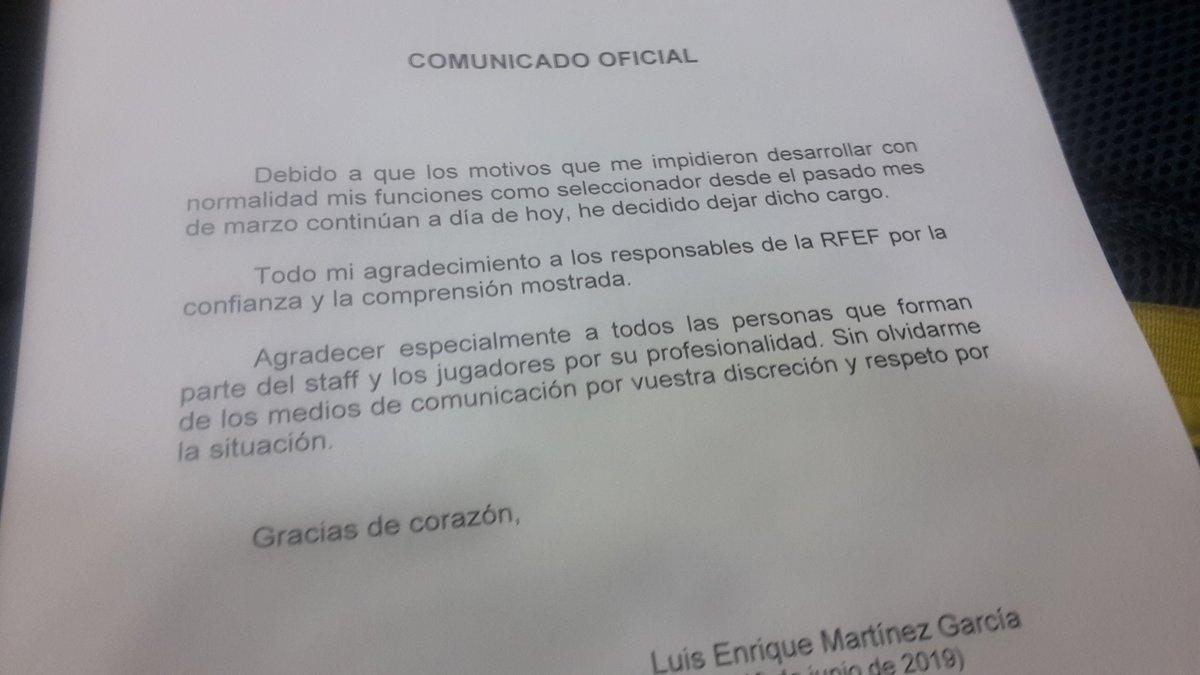 Luis Enrique deja de la selección, Robert Moreno le sustituirá D9bhAjxXoAEYF1a