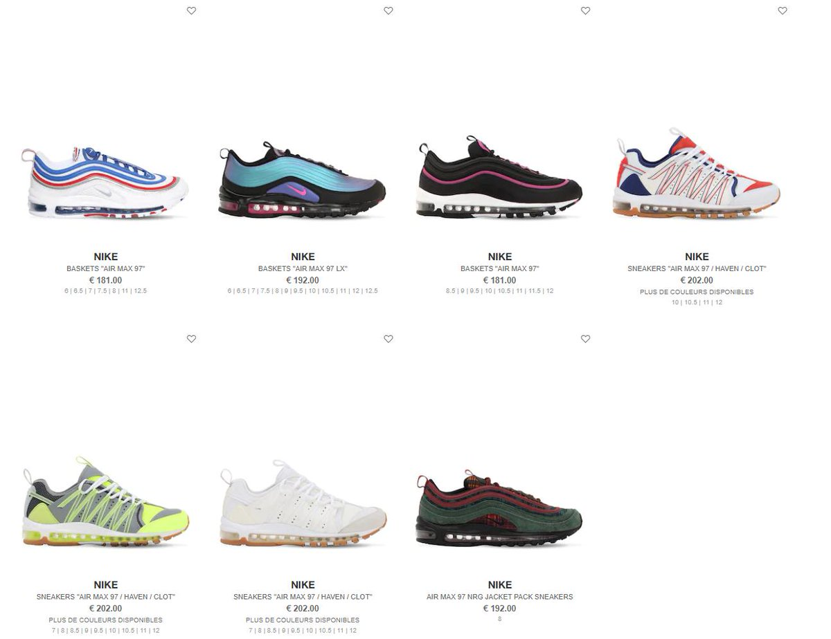 All Nike Air Max 97 styles now live at