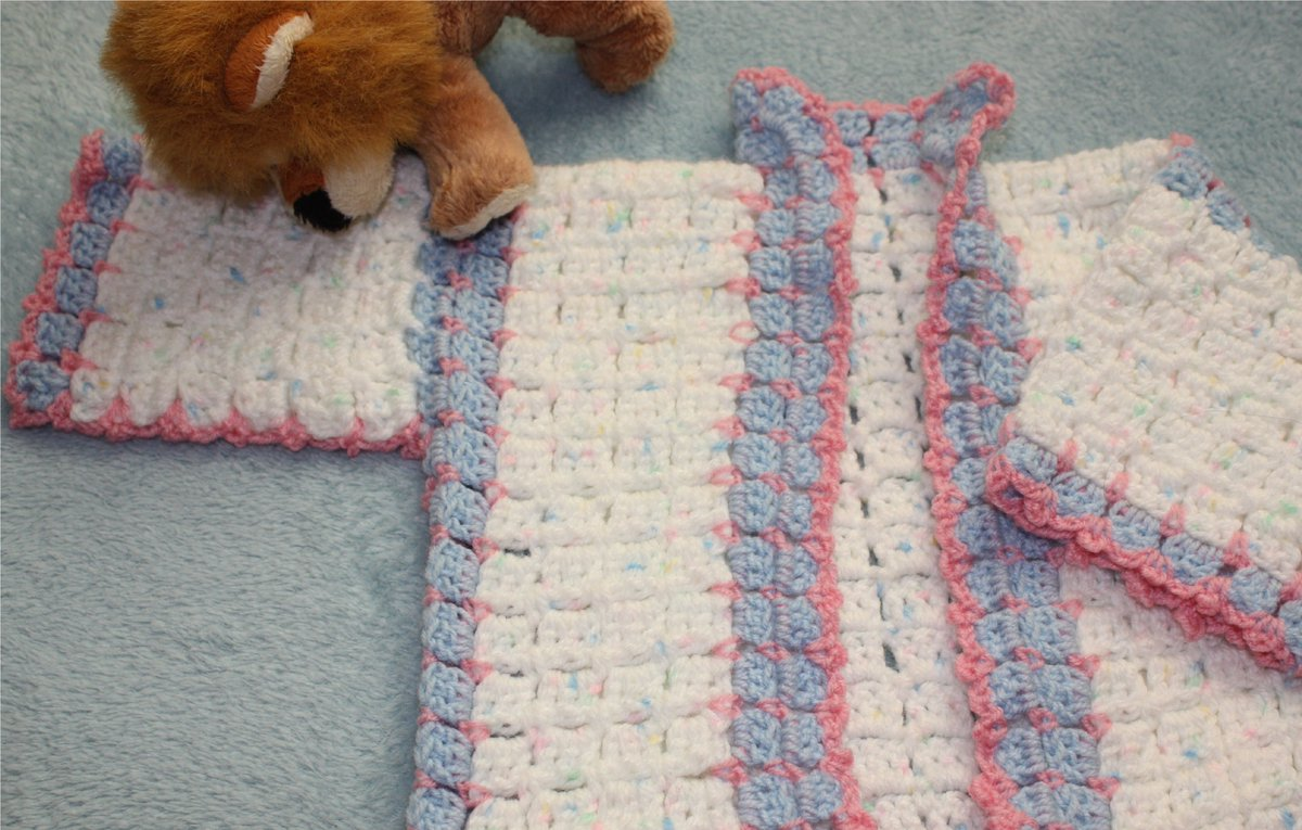 New crocheting for new grand daughter. I love this cardigan that I made from a free pattern I found on Youtube What colours would you choose?  http://www.familyclan.info/crocheting-new-grand-daughter/… #crochet #handmade