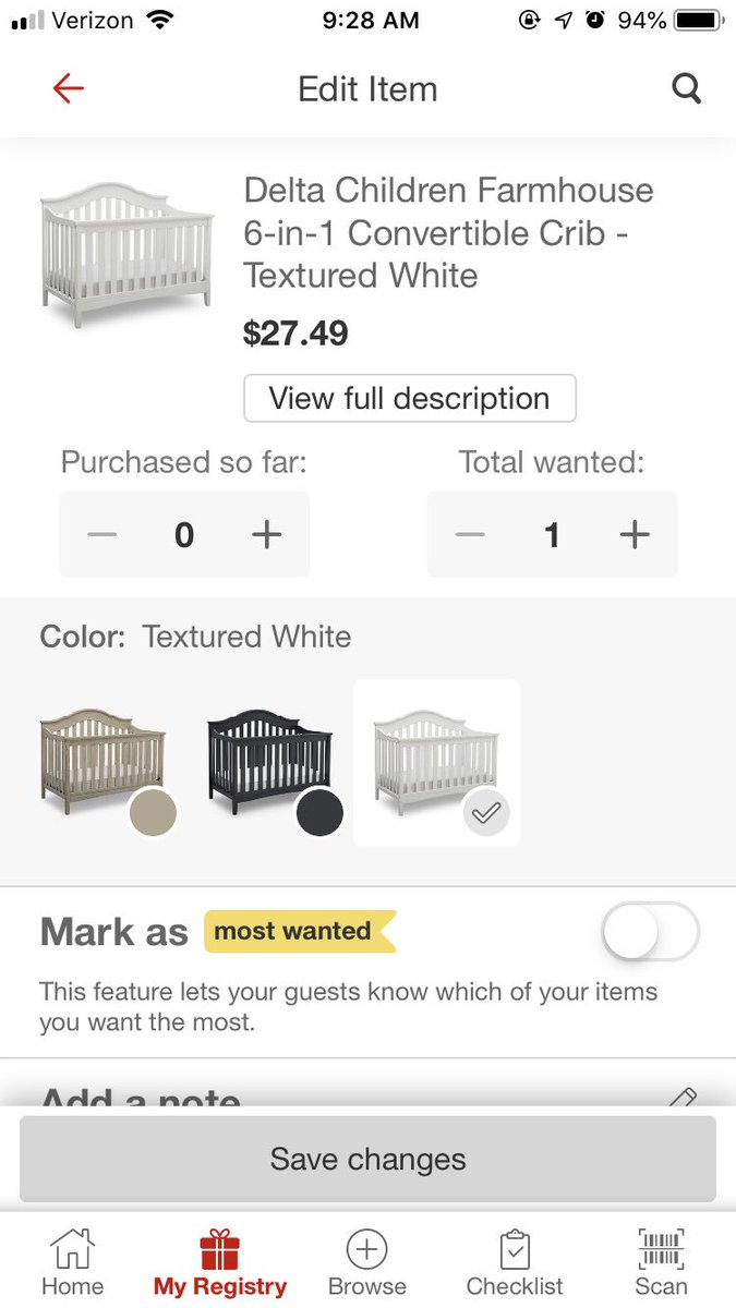 @Target I would like to go ahead and reserve this crib at this price when it comes back in stock please! ❤️