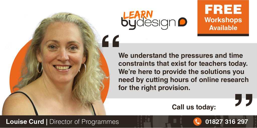 Book a time slot with our Director of Programmes to find how #LearnbyDesign can offer engaging & valuable learning experiences that fulfil your schools learning curriculum!   Email: Louisecurd@bydesign-group.co.uk Website: https://soo.nr/6Wia  #teacherslife #Educhat #support