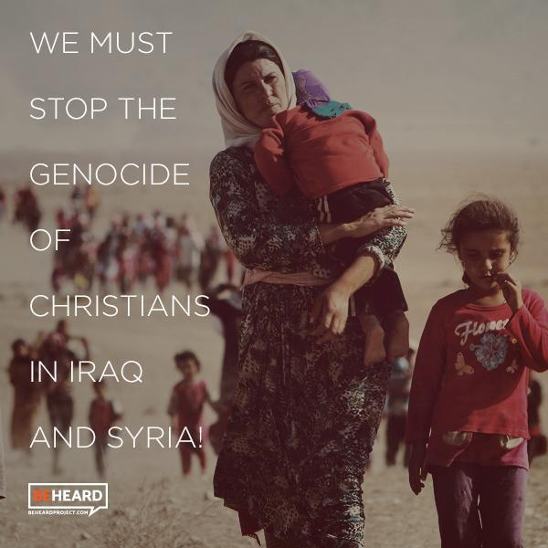 We're urging the @UN to recognize the atrocities that are occurring in #Iraq and #Syria as #genocide and to put a plan in place to protect our brothers and sisters in Christ.