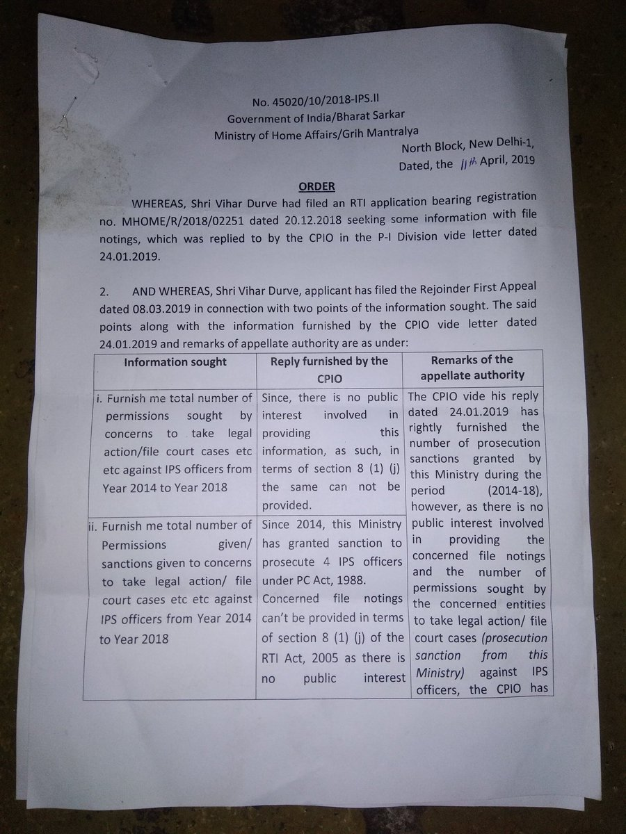 Action Against IRS ofcrs Good.  H PM @narendramodi, @AmitShah @rajnathsingh @DrJitendraSingh  @Dev_Fadnavis why denied info under #RTI likes #Nageshwar Rao IPS, #IASIndiaModule #IASMhtraModule  blossomed under you.Publish info web   @ArunaRoy @shaileshgan @pbhushan1 @nikhilmkss