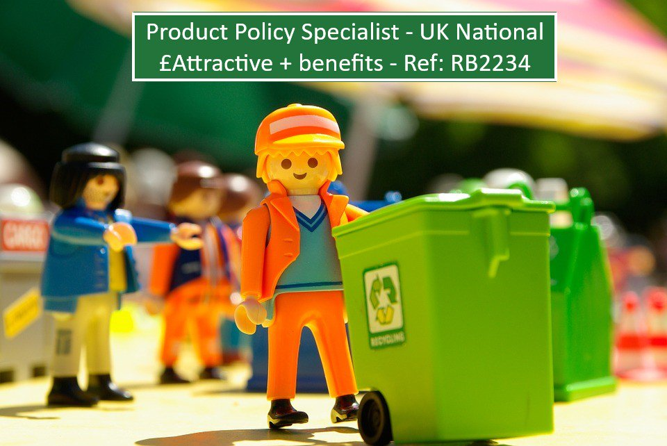 Product Policy #Specialist - #UK #National - £Attractive #salary + benefits - #Waste #Management #industry - Ref: RB2234. To find out more call 01962 658 514 & ask for Becky.