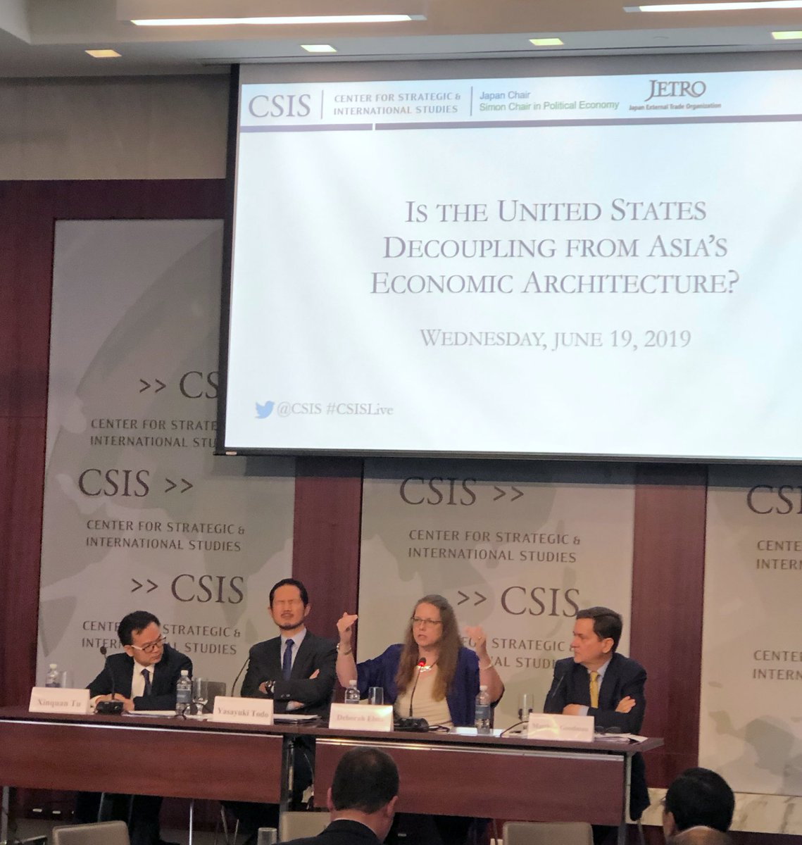 Deborah Elms @ATradeCentre: If #Vietnam can do #CPTPP then #China can join too. No reason China can't do what's necessary to join. @CSIS @CSIS_Econ @JapanChair @JETROUSA @JETRO_info #Asia #BRI #OBOR #Trade #CSISLive – at Center for Strategic and International Studies (CSIS)