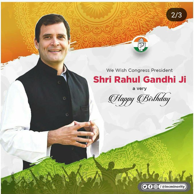 I wish you Happy Birthday Hon\ble AICC President Rahul Gandhi Ji.