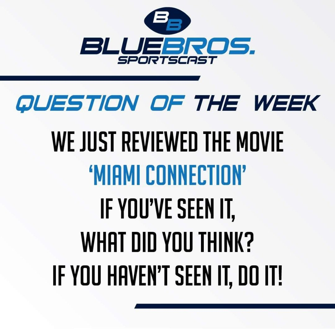 QUESTION OF THE WEEK  #MiamiConnection #DragonSound #Film #Cinema