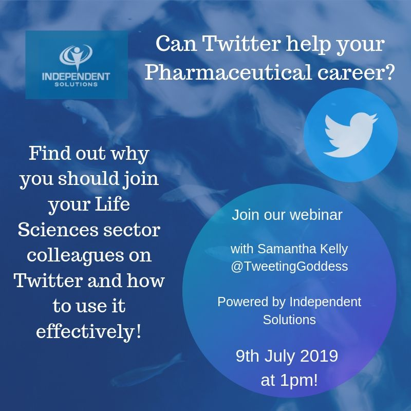 Join us on the 9th of July for our webinar with @Tweetinggoddess where we will be discussing how #Twitter can help your #Pharmaceutical career!! https://www.crowdcast.io/e/can-twitter-help-my-life/register… #Lifesciences #Ireland