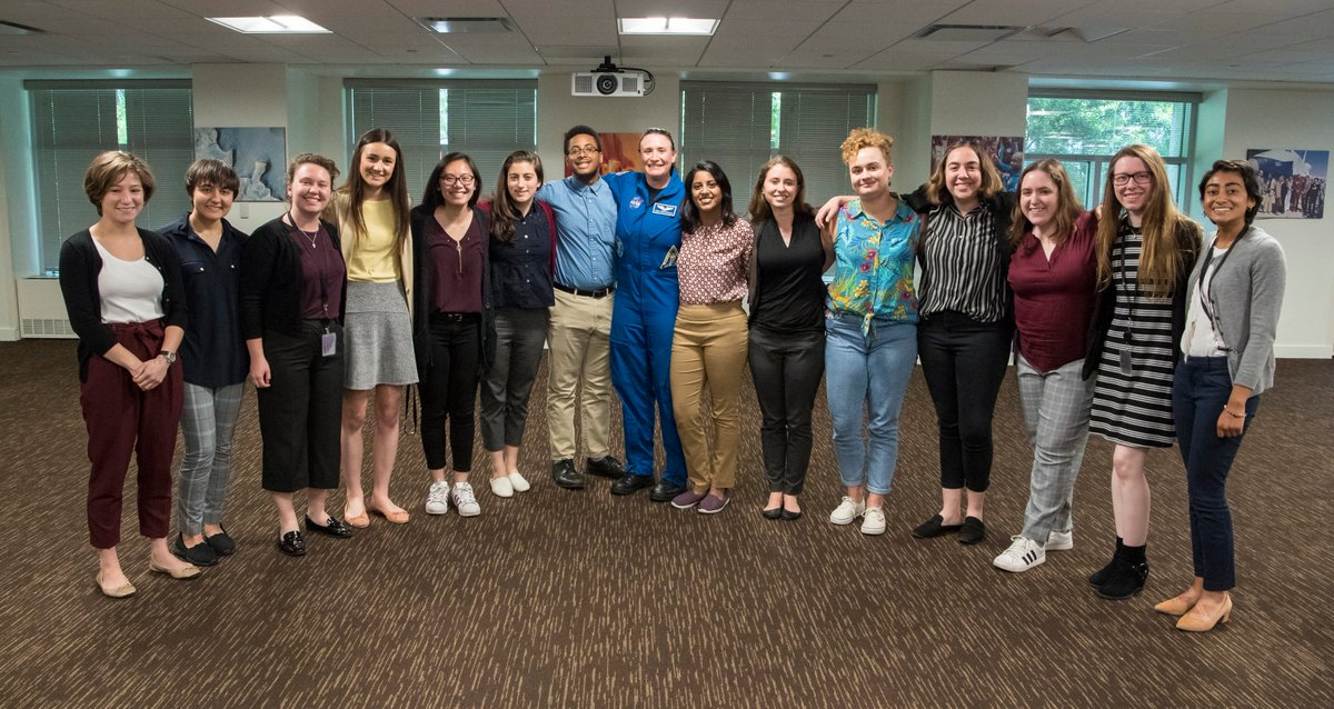 """On Friday, June 14, several of our #NASAinterns at HQ attended @AstroSerenas in-house talk, where she debriefed on her mission to the @ISS & answered questions. Her STEM career advice? """"You have to do something that you LOVE doing.""""✨🚀"""