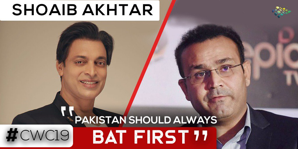"""""""Sachin Tendulkar was the only one who said Pakistan should bat first""""#CWC19 #ShoaibAkhtar #VirendarSehwag #Watch the full video on my YouTube Channel: http://bit.ly/PakvsIndMatchAnalysis…"""