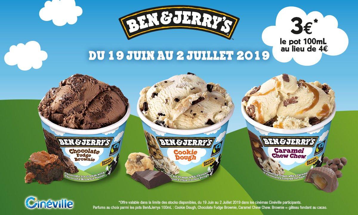 La glace meilleure qu'une glace !!! 😋 1€ de réduction sur les pots de Ben & Jerry's du 19 juin au 2 juillet, alors profitez-en ! ☀️ #benandjerrys #glace #ete #Cinema #cinevillestseb