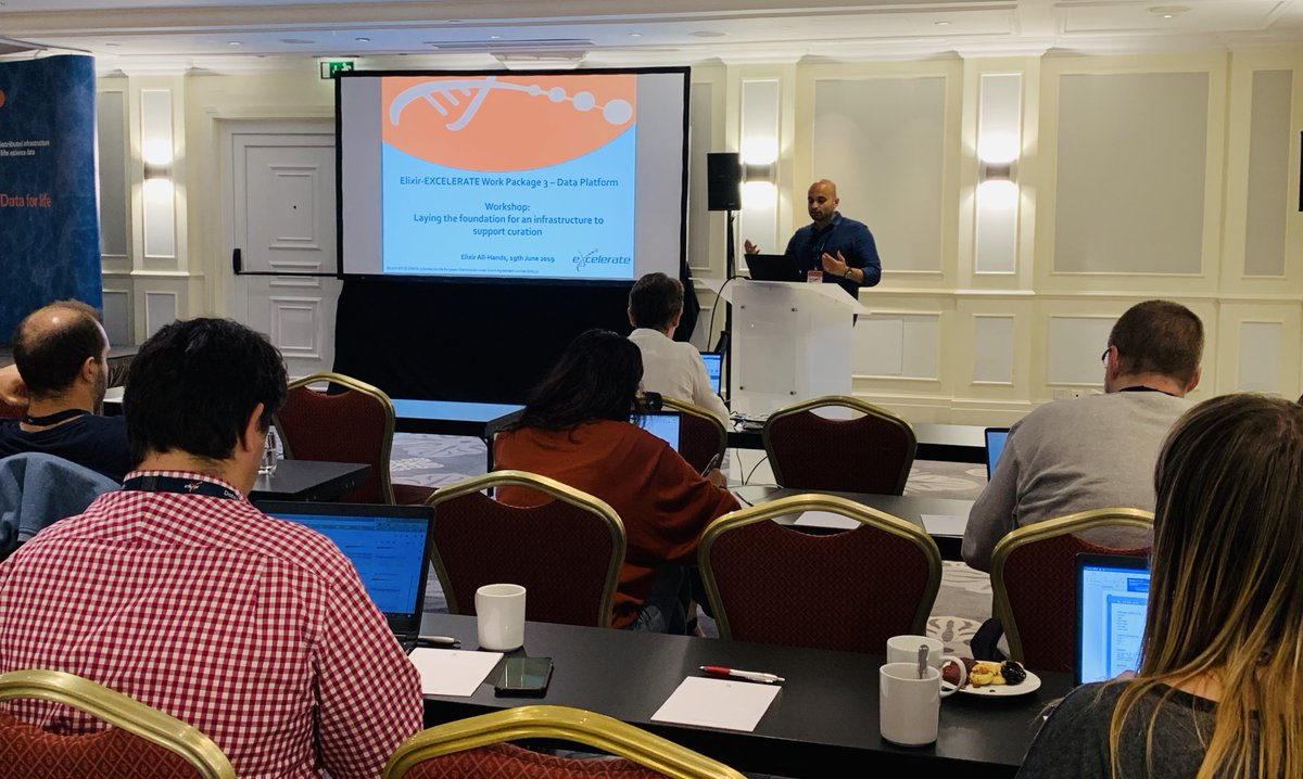 Aravind Venkatesan from @EuropePMC_news starts the workshop on 'Laying the foundation for an infrastructure to support #curation'. Discussion later on how to coordinate #textmining & #datamining communities to support #biocurators. @intact_project #DisProt #ELIXIR19