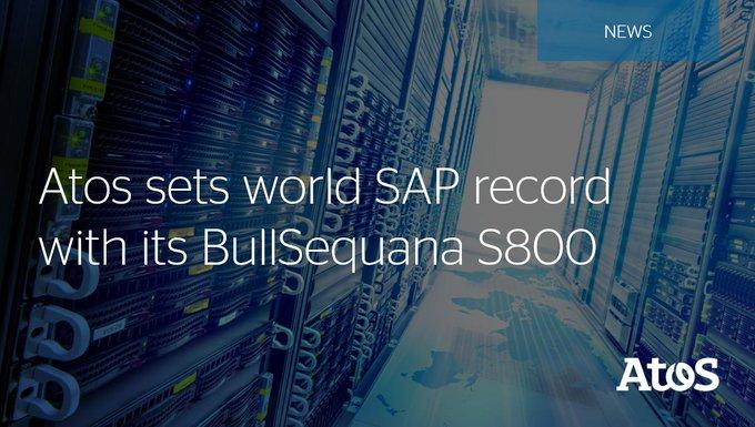 Nuestro servidor #BullSequana S800 ha establecido un nuevo récord mundial como el servidor que...