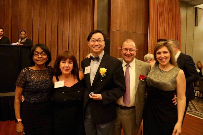 Dr Liguori, Dr Wang & Dr Bhagat recognized for 25, 15 & 15 years of service at the HSS Service Award Dinner! Also pictured: Service Award Club members Dr Jules, Mary Hargett & Valeria Rotundo, plus Sister Margaret, Lisa Goldstein, Joanne Melia, Lili De Jesus, Wayne Wright & more